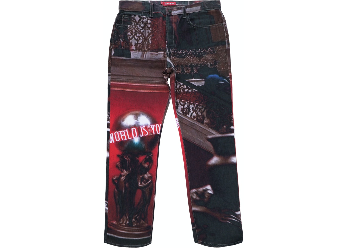 Supreme Scarface The World Is Yours 5 Pocket Jeans Multi