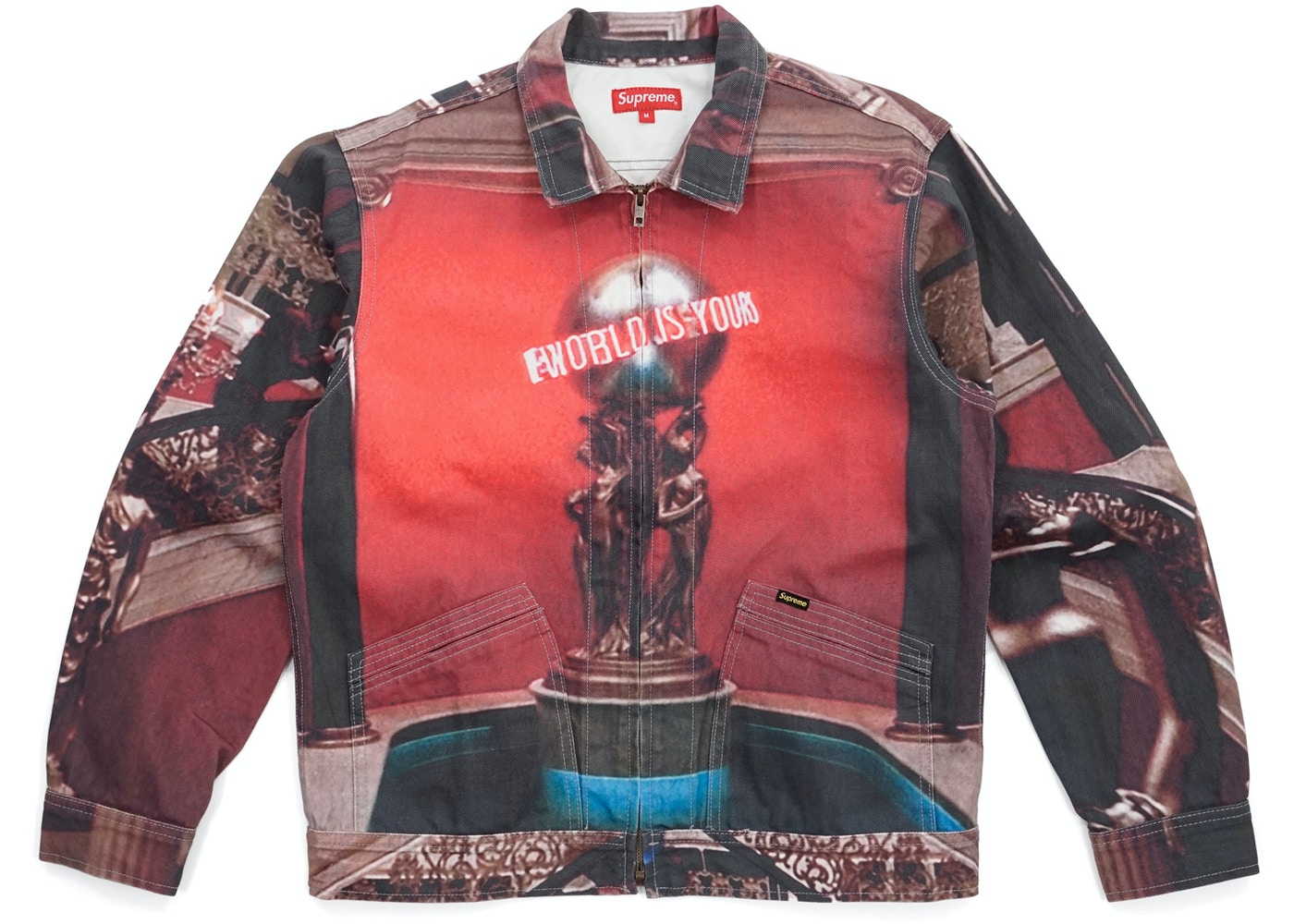 Supreme Scarface The World Is Yours Denim Jacket Multi