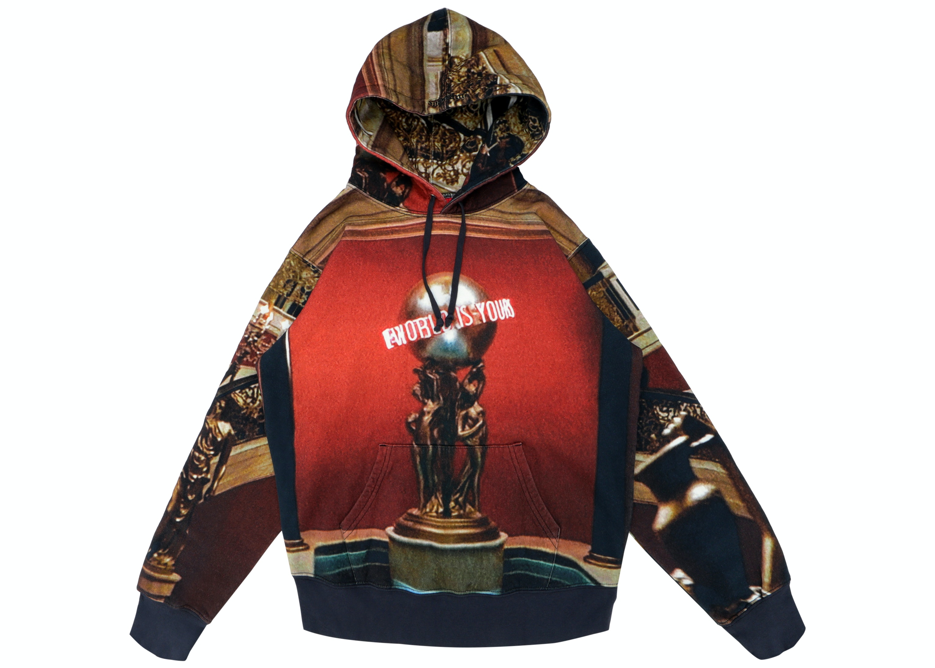 Supreme Scarface The World is Yours Hooded Sweatshirt Multicolor