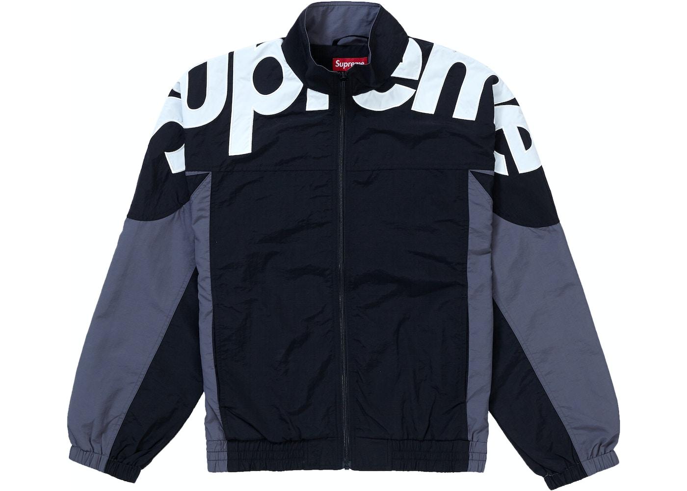 Supeme Jacket Supreme Shoulder Logo Track Jacket Black - FW19
