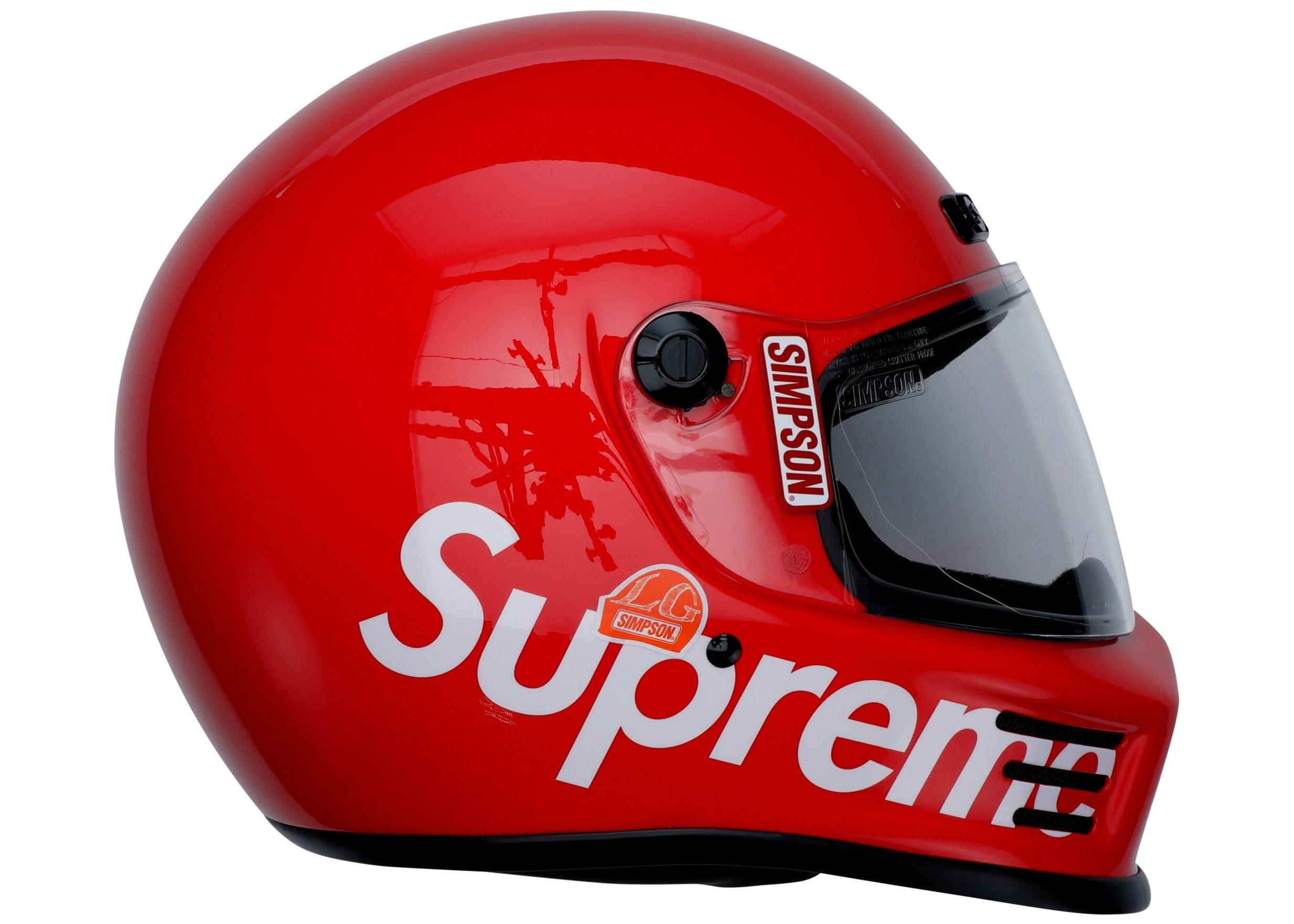 Supreme Simpson Street Bandit Helmet Red