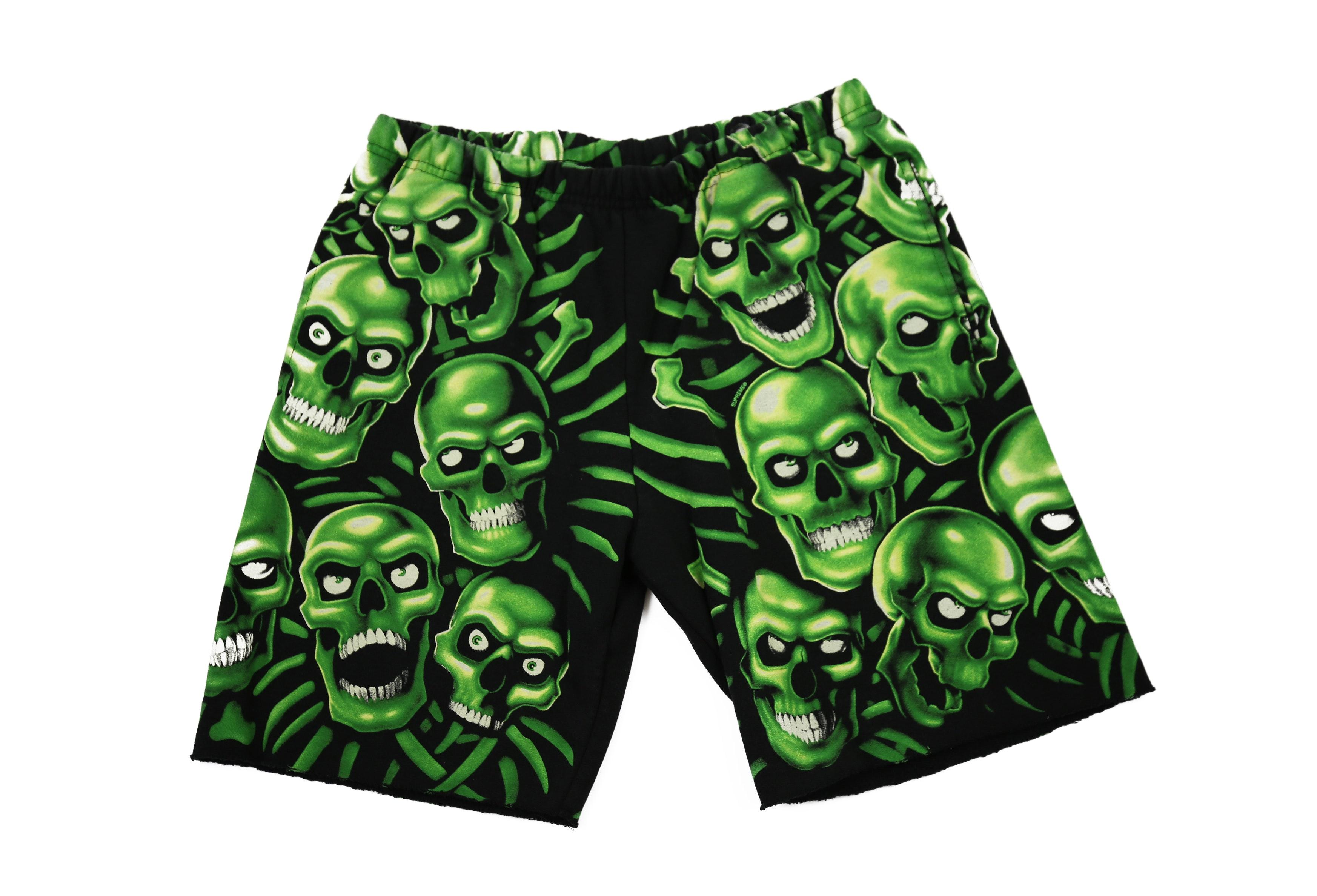 Supreme Skull Pile Sweatshort Green