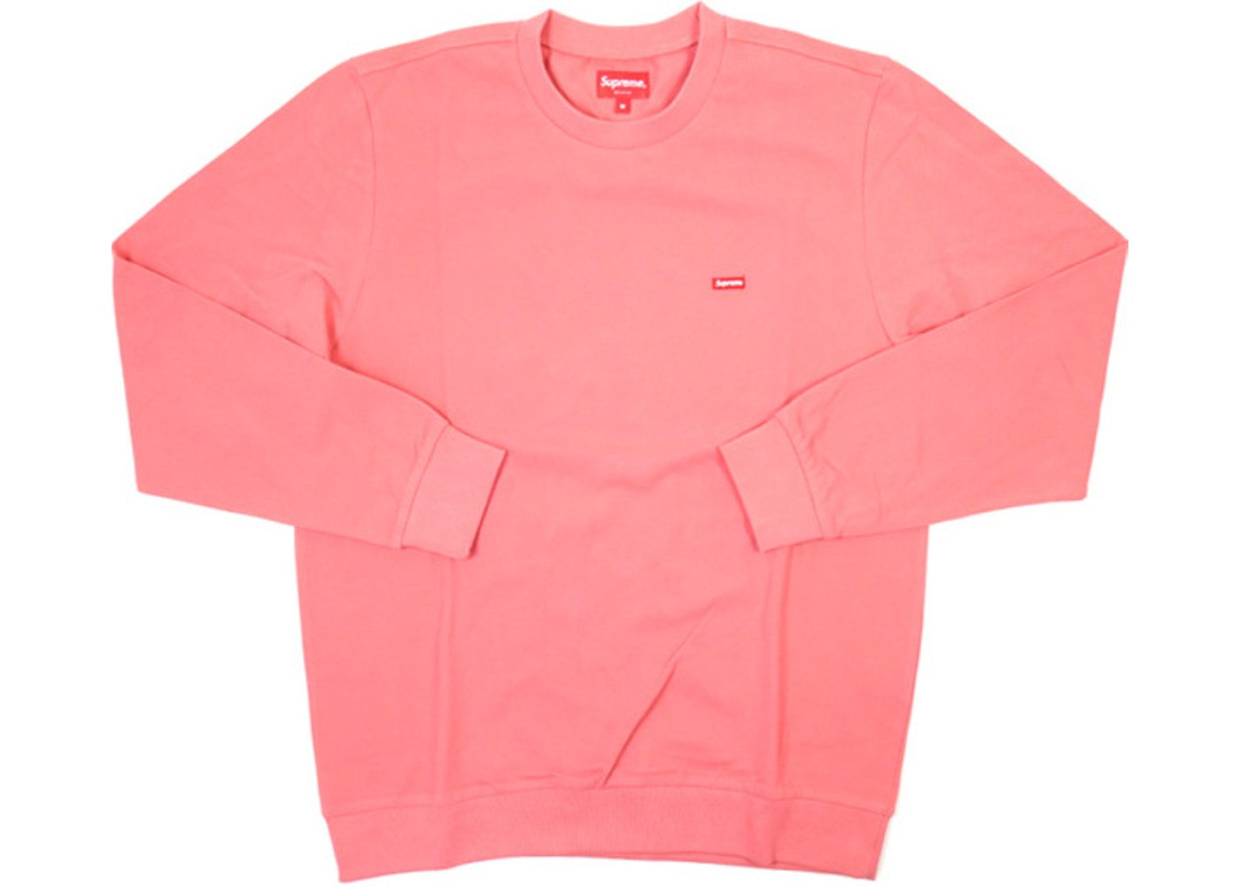 2468bbe52a3b ... Supreme Small Box Pique Crewneck Pink ...