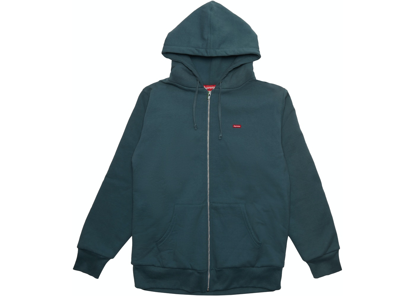 Supreme Small Box Thermal Zip Up Hoodie Slate - FW16 c0a34aa762f