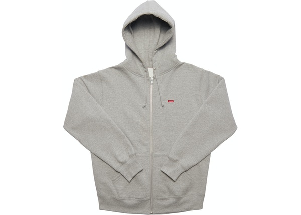 84a30d5eb3e8 Supreme Small Box Zip Up Sweatshirt Heather Grey - FW17