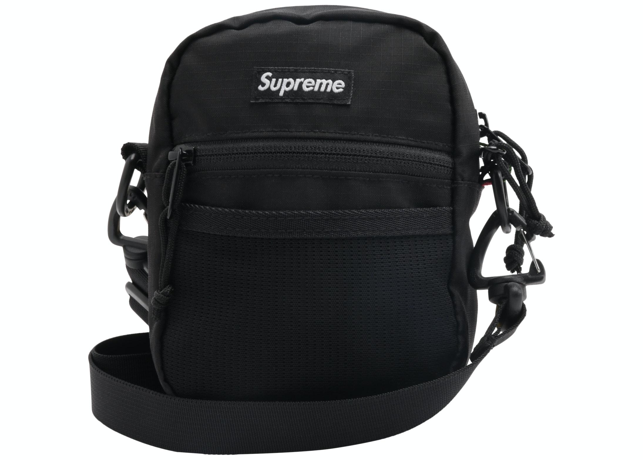supreme small shoulder bag black