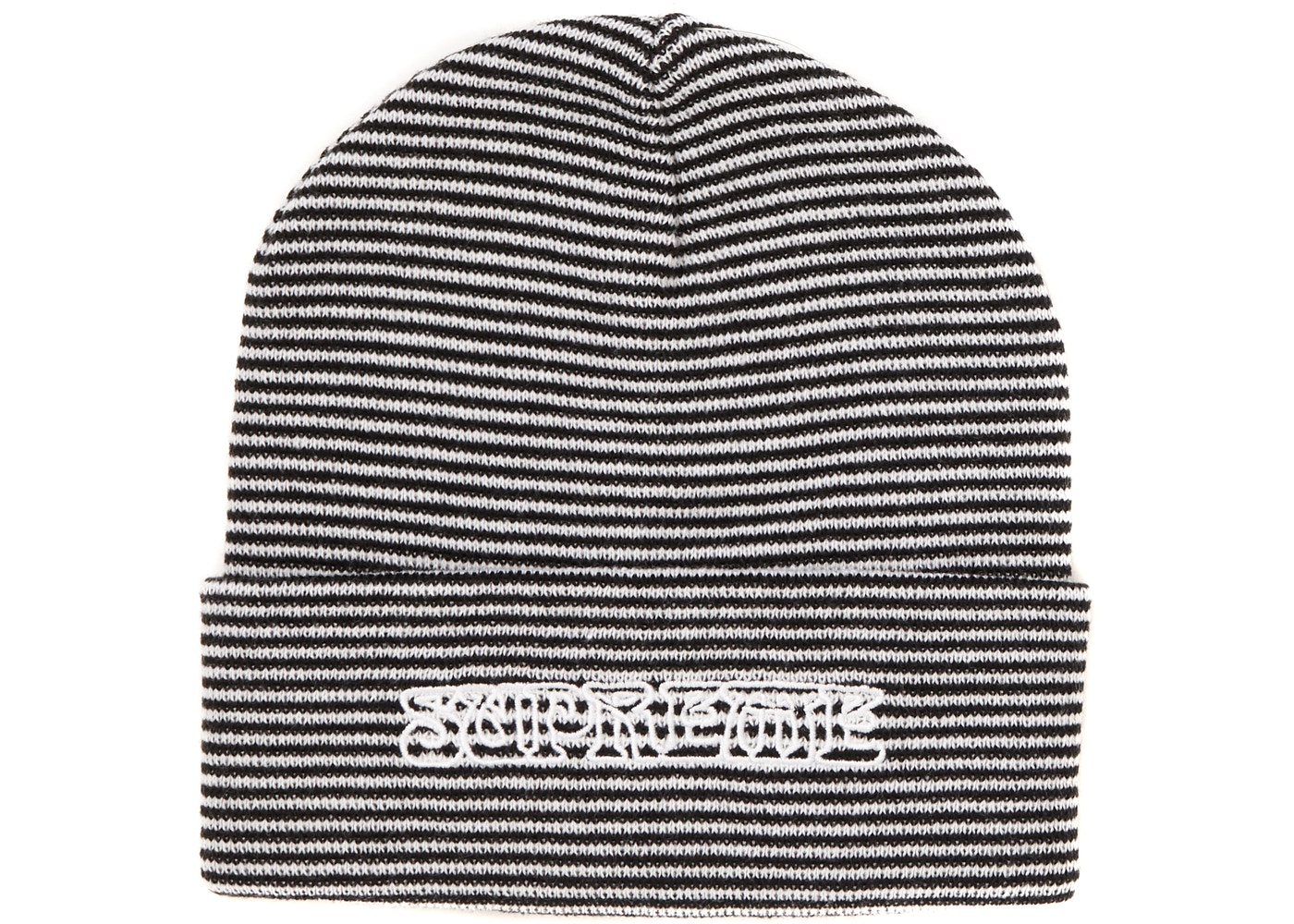25cdfbd06dbb8 Supreme Small Stripe Beanie White - FW18