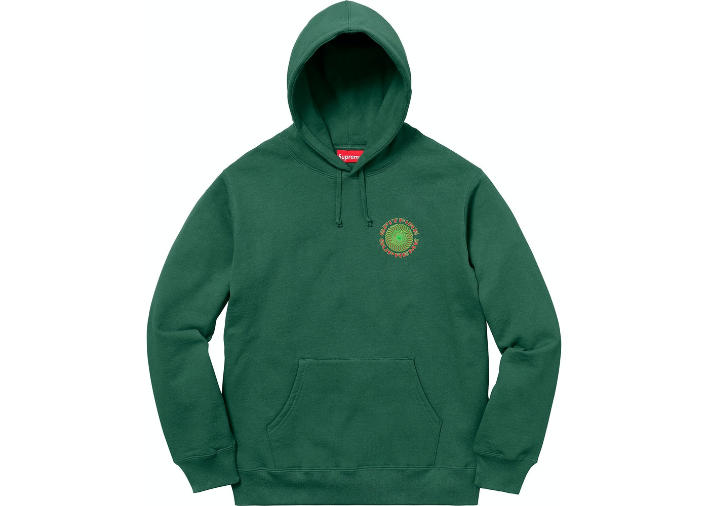 a6e04a9608 HypeAnalyzer · Supreme Spitfire Hooded Sweatshirt Dark Green