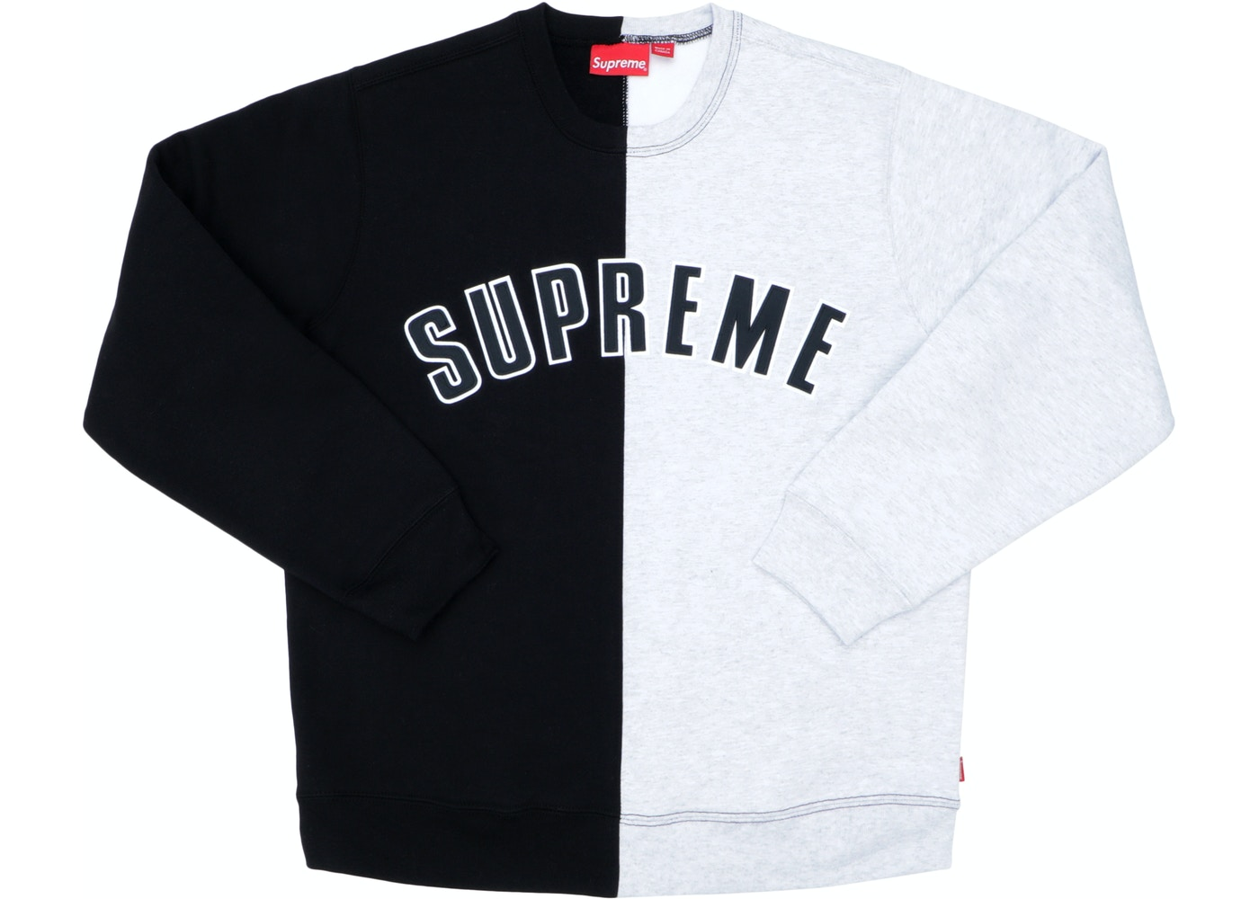 88cea5095927 Supreme Split Crewneck Sweatshirt Black - FW18
