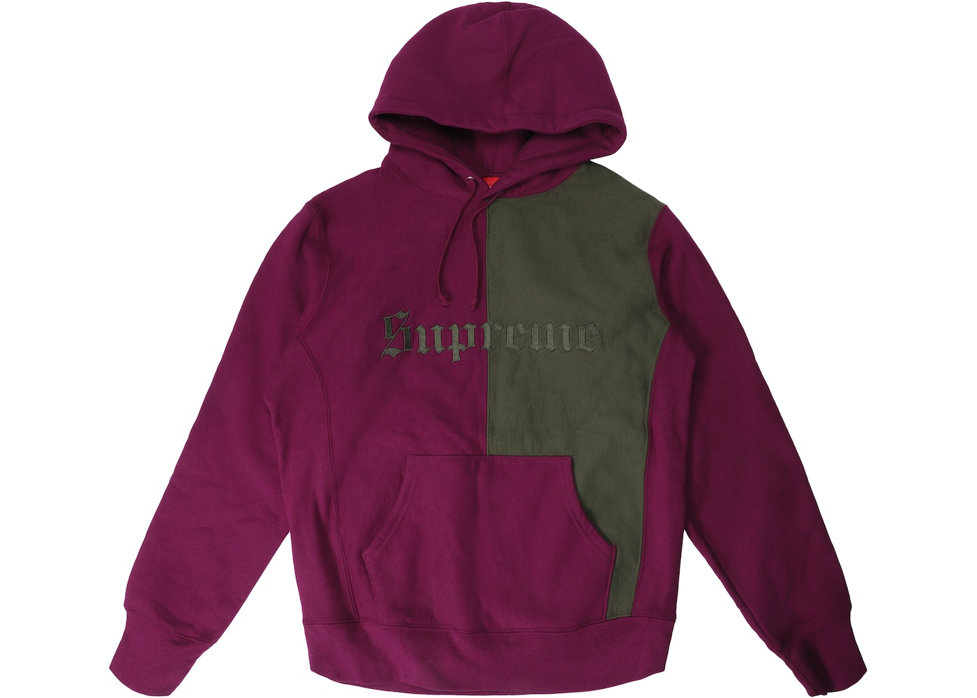 c0c478f17 Sell. or Ask. Size L. View All Bids. Supreme Split Old English Hooded  Sweatshirt Plum