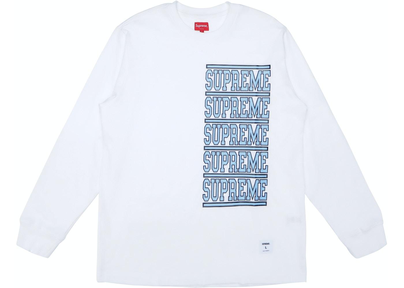 b1e2967c9b7 HypeAnalyzer · Supreme Stacked L S Top White