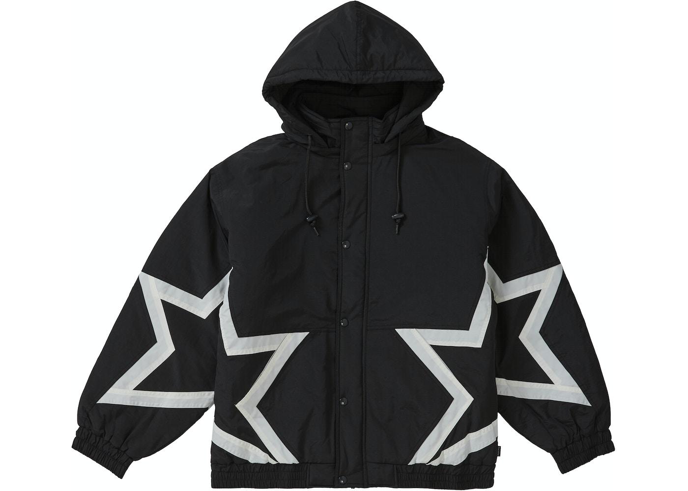 0d06a1f5 Supreme Stars Puffy Jacket Black - SS19