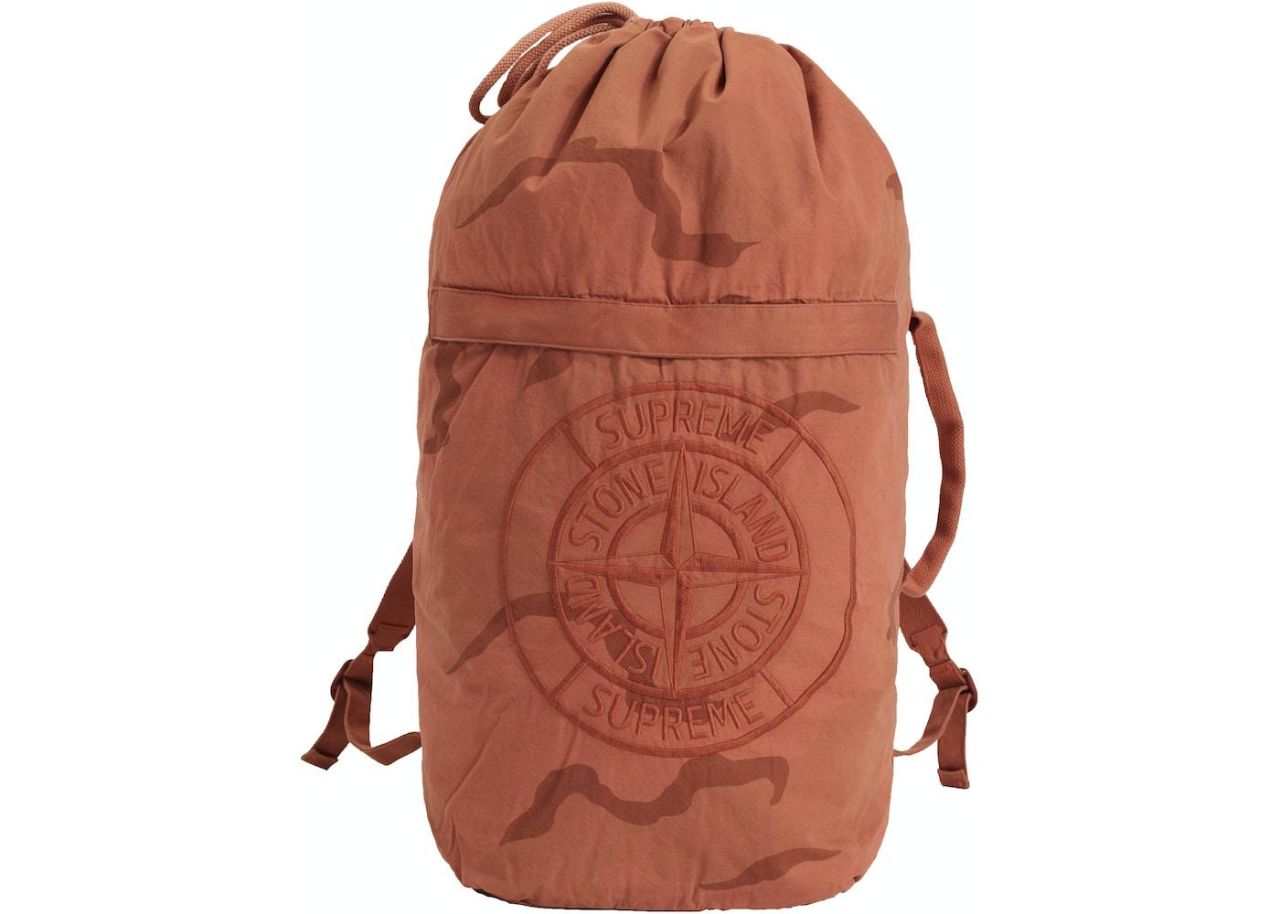 3a519e64e Supreme Stone Island Camo Backpack Coral Camo