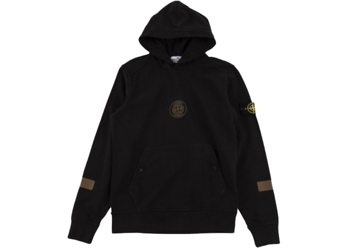 buy popular ab051 9a3bb Supreme Stone Island Hooded Sweatshirt Black - FW17