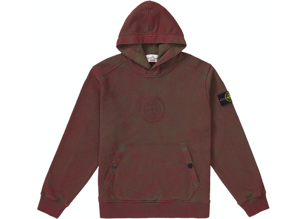 Supreme Stone Island Hooded Sweatshirt (SS19) Red 6d9c24b37