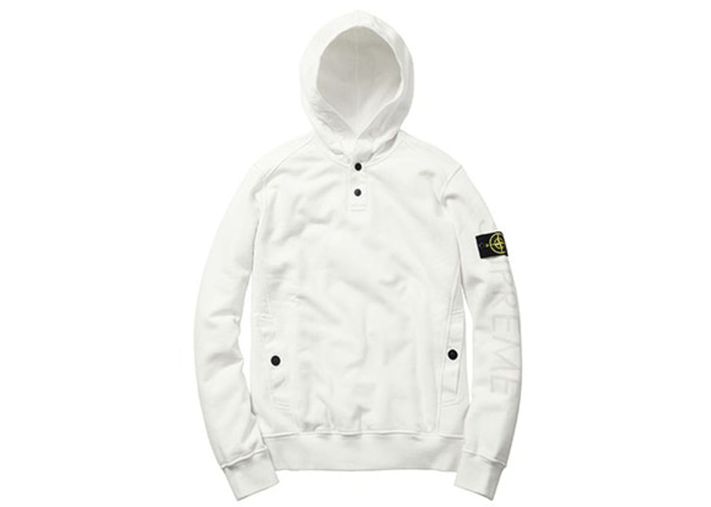 Stone Island Hooded Sweatshirt White