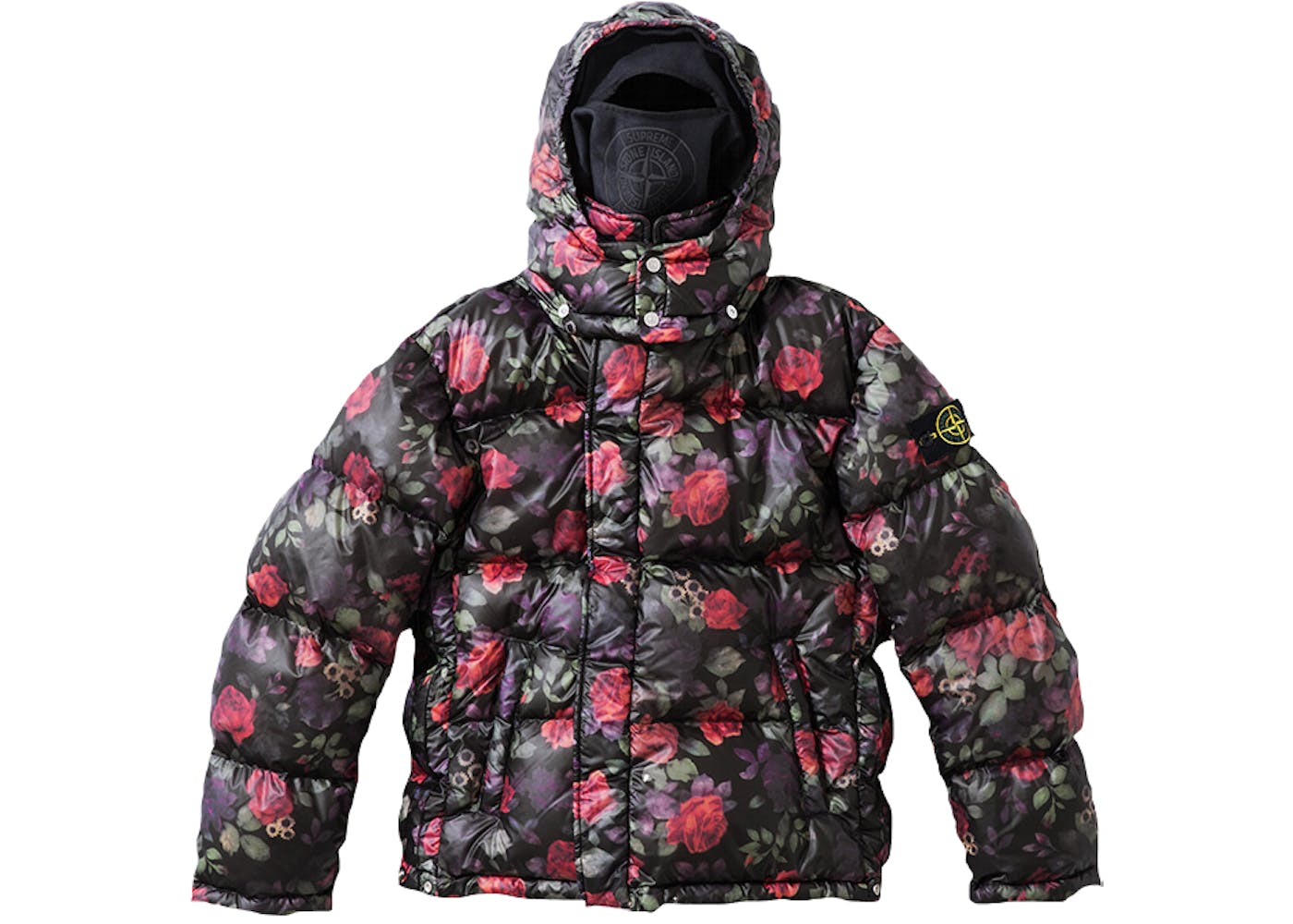 supreme stone island lamy cover stampato puffy jacket black. Black Bedroom Furniture Sets. Home Design Ideas