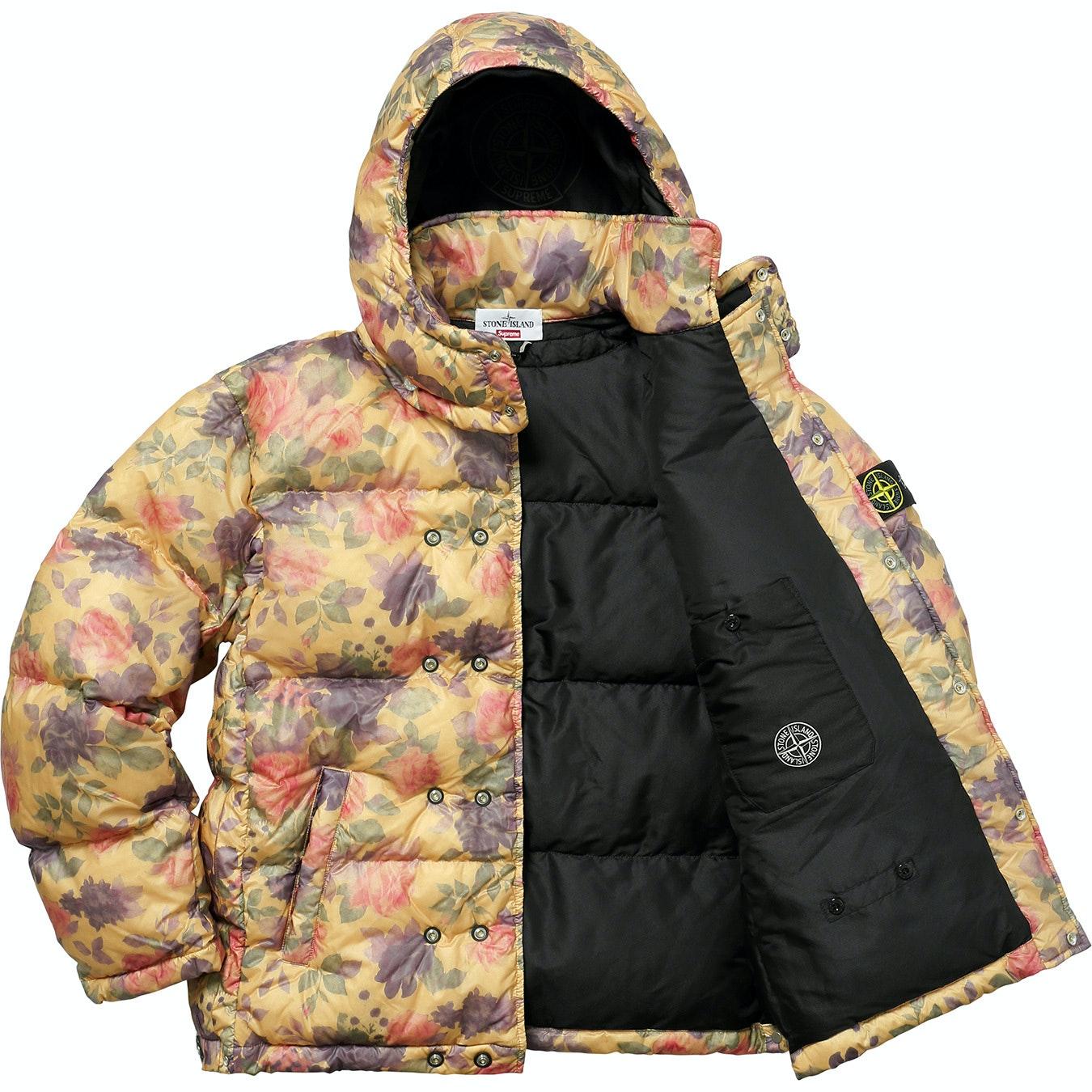 Supreme Auto Sales >> Supreme Stone Island Lamy Cover Stampato Puffy Jacket Copper