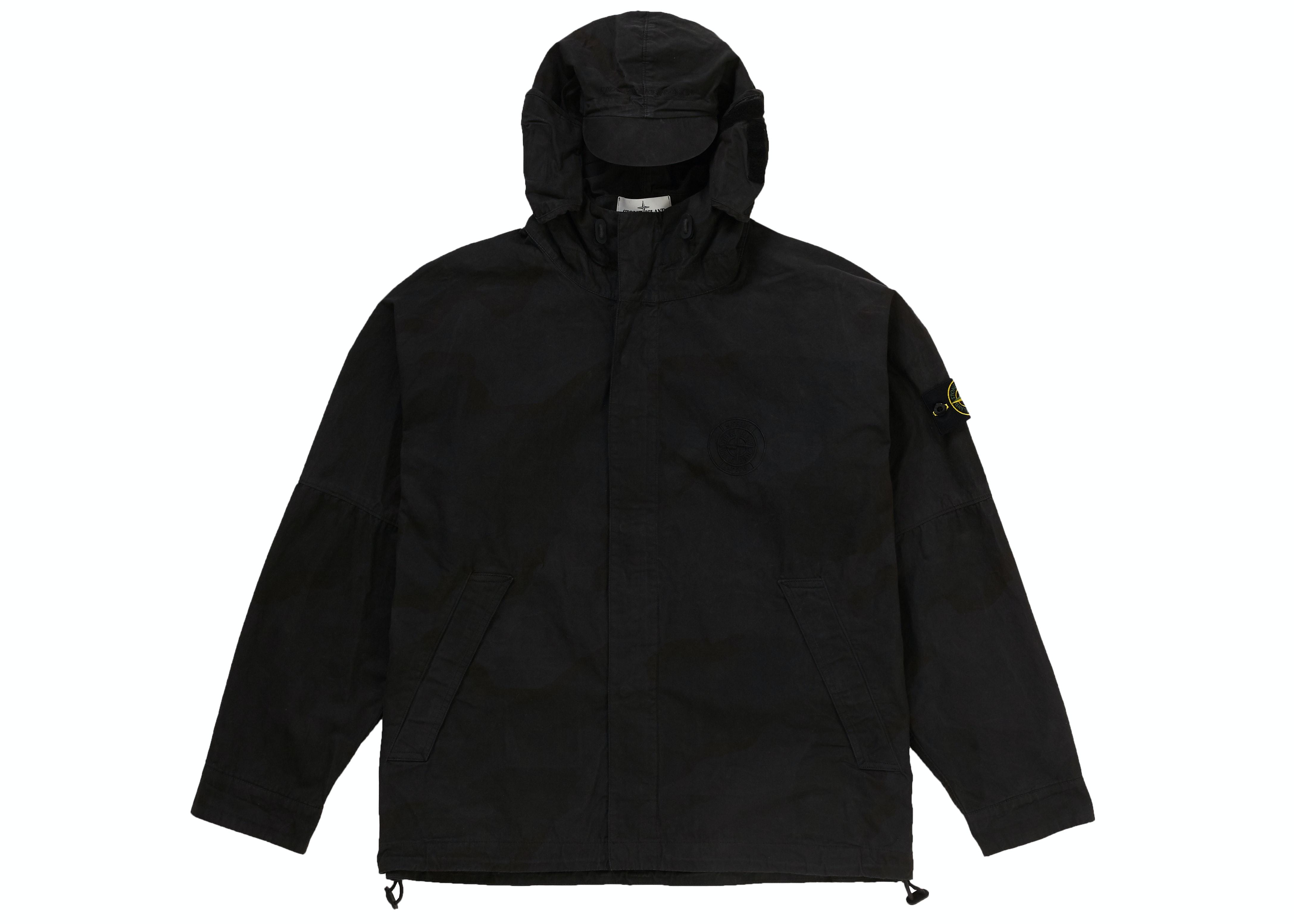 Supreme Stone Island Riot Mask Camo Jacket Black Camo