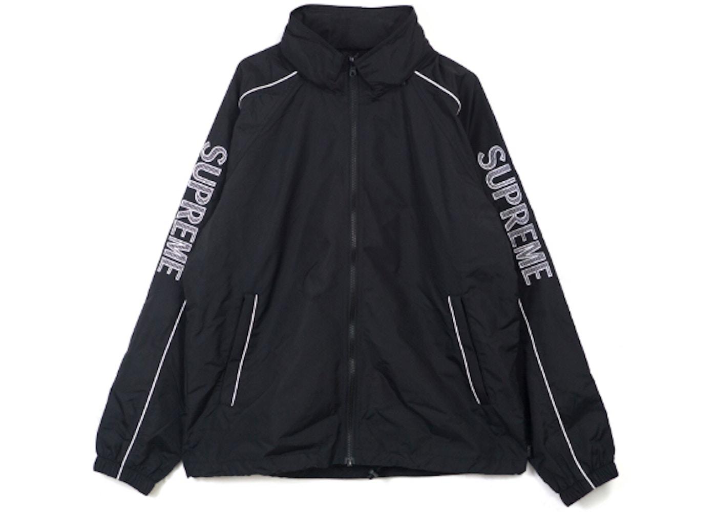 sale retailer 7b188 db996 Supreme Striped Logo Windbreaker Black - SS17