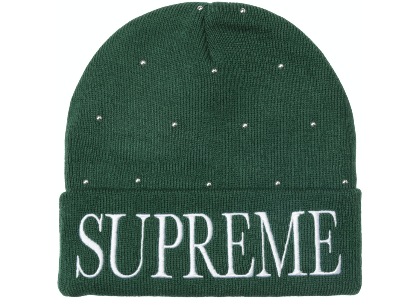 423dc8de Sell. or Ask. View All Bids. Supreme Studded Beanie Dark Green