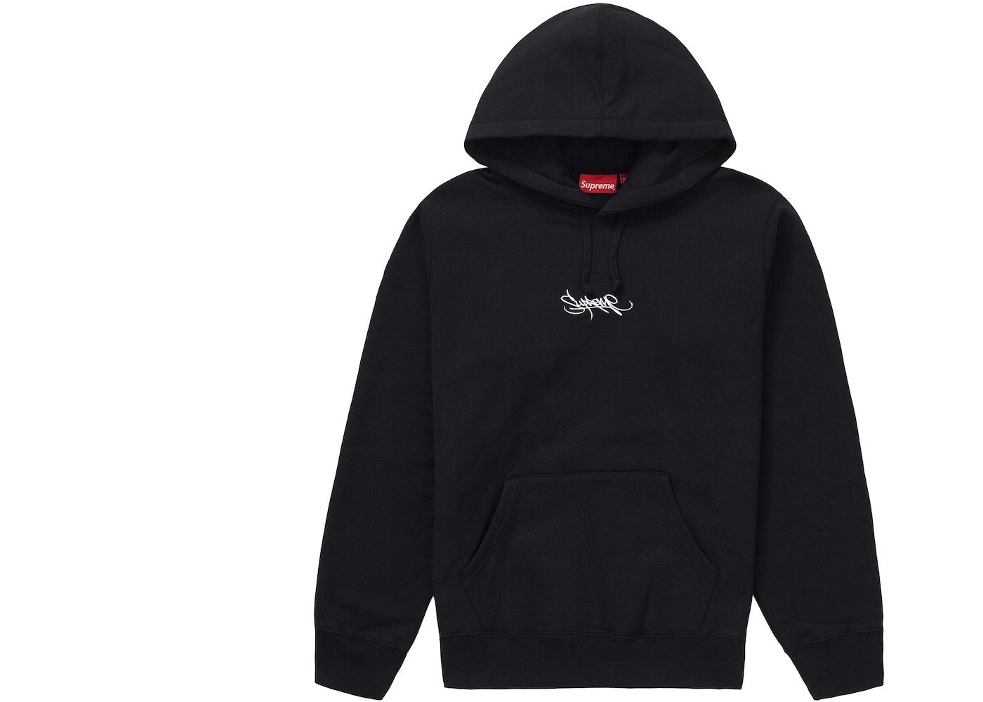 78dc94ffa Supreme Tag Logo Hooded Sweatshirt Black - SS19