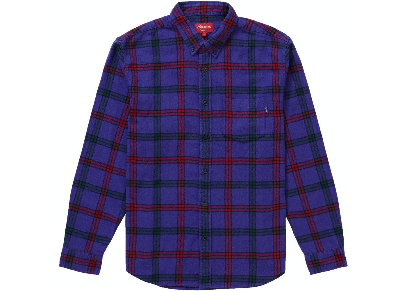 ac8aaf9c118 Sell. or Ask. Size S. View All Bids. Supreme Tartan Flannel Shirt Purple