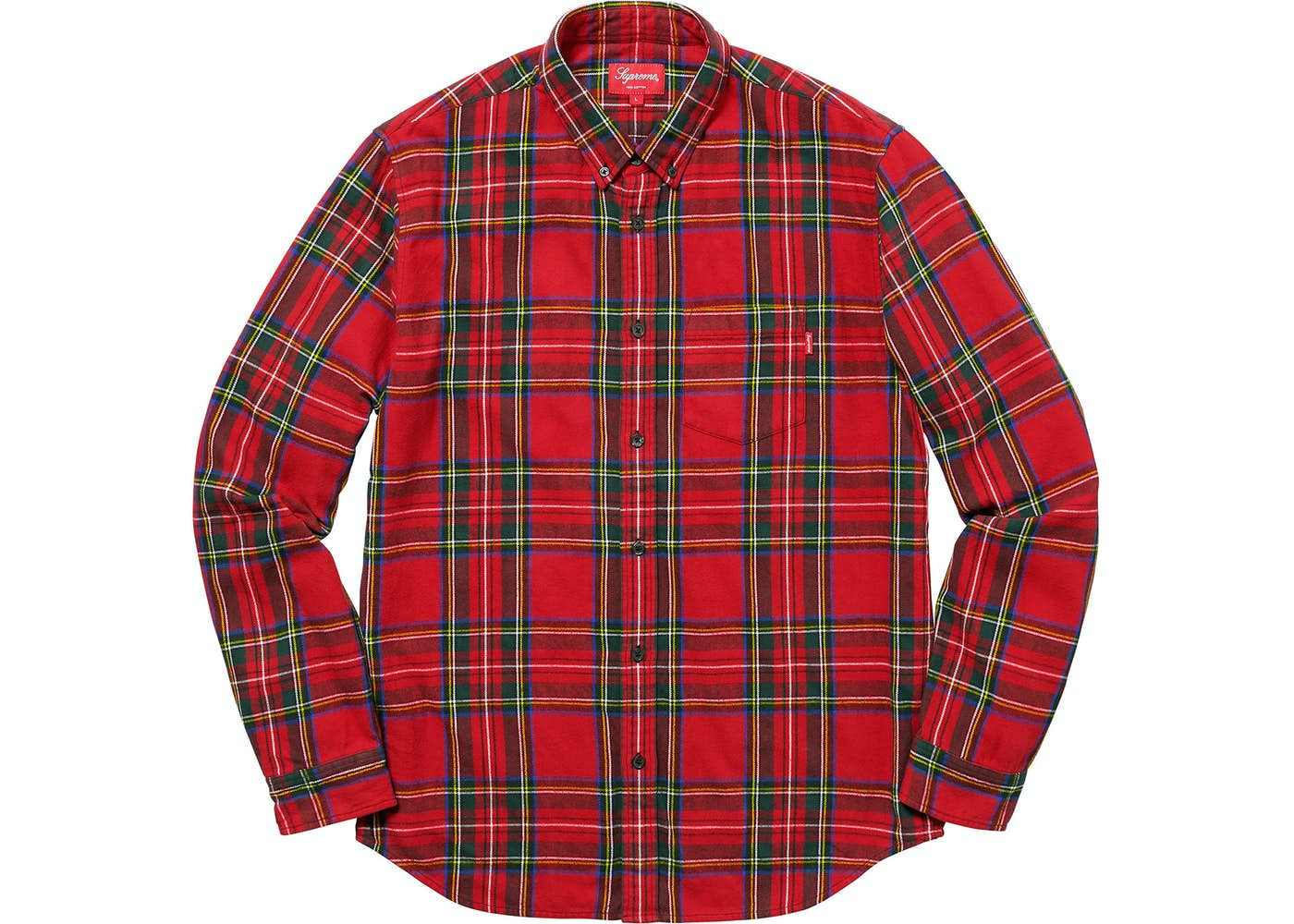 Supreme Tartan Flannel Shirt Red