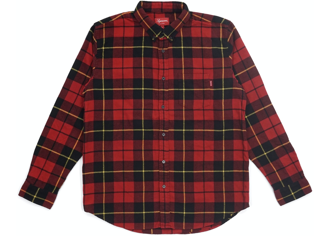 84a5b1627cb Supreme Tartan L S Flannel Shirt Red - FW18