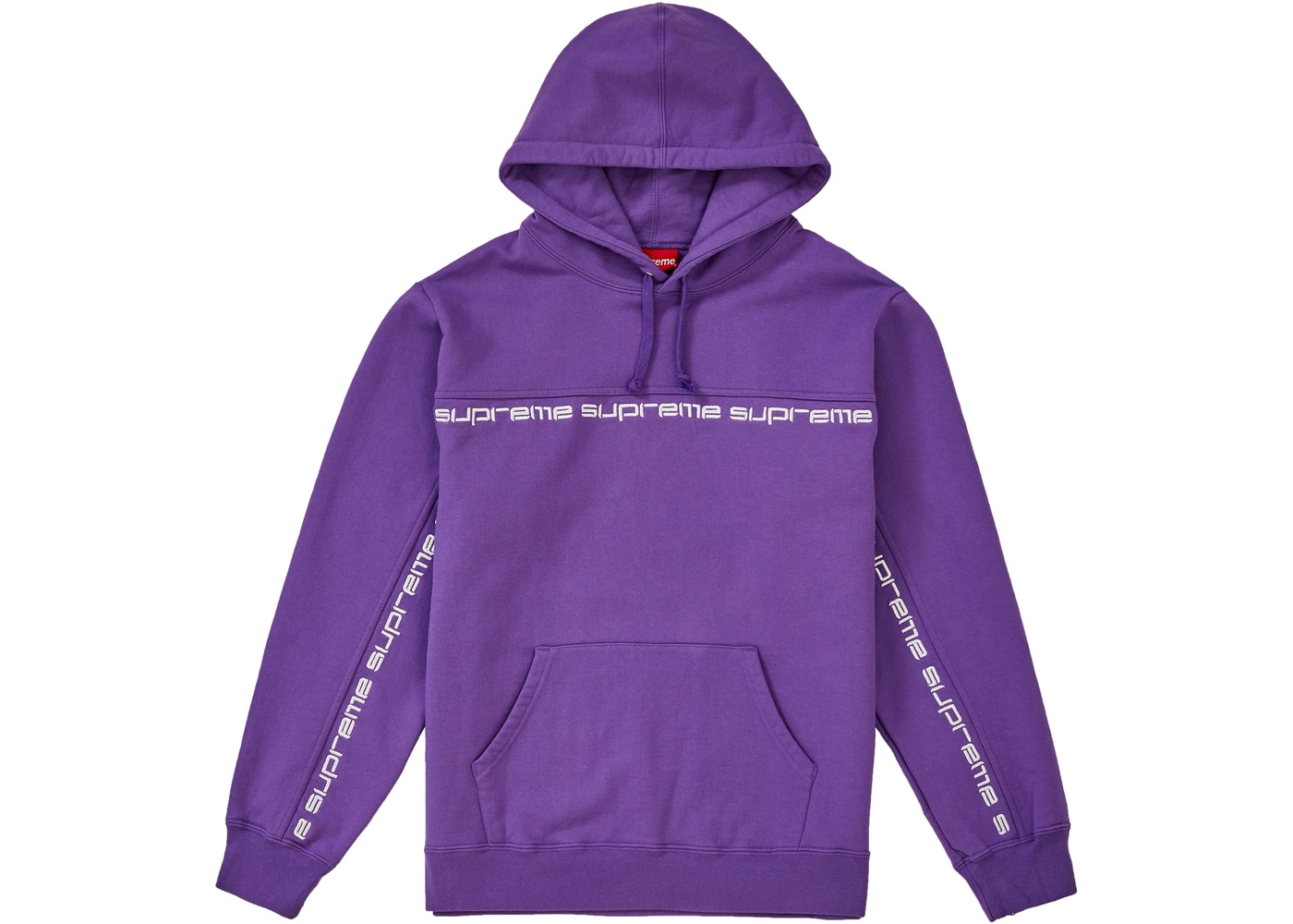 Supreme Text Stripe Hooded Sweatshirt Violet - FW18 72aeb0932bcd