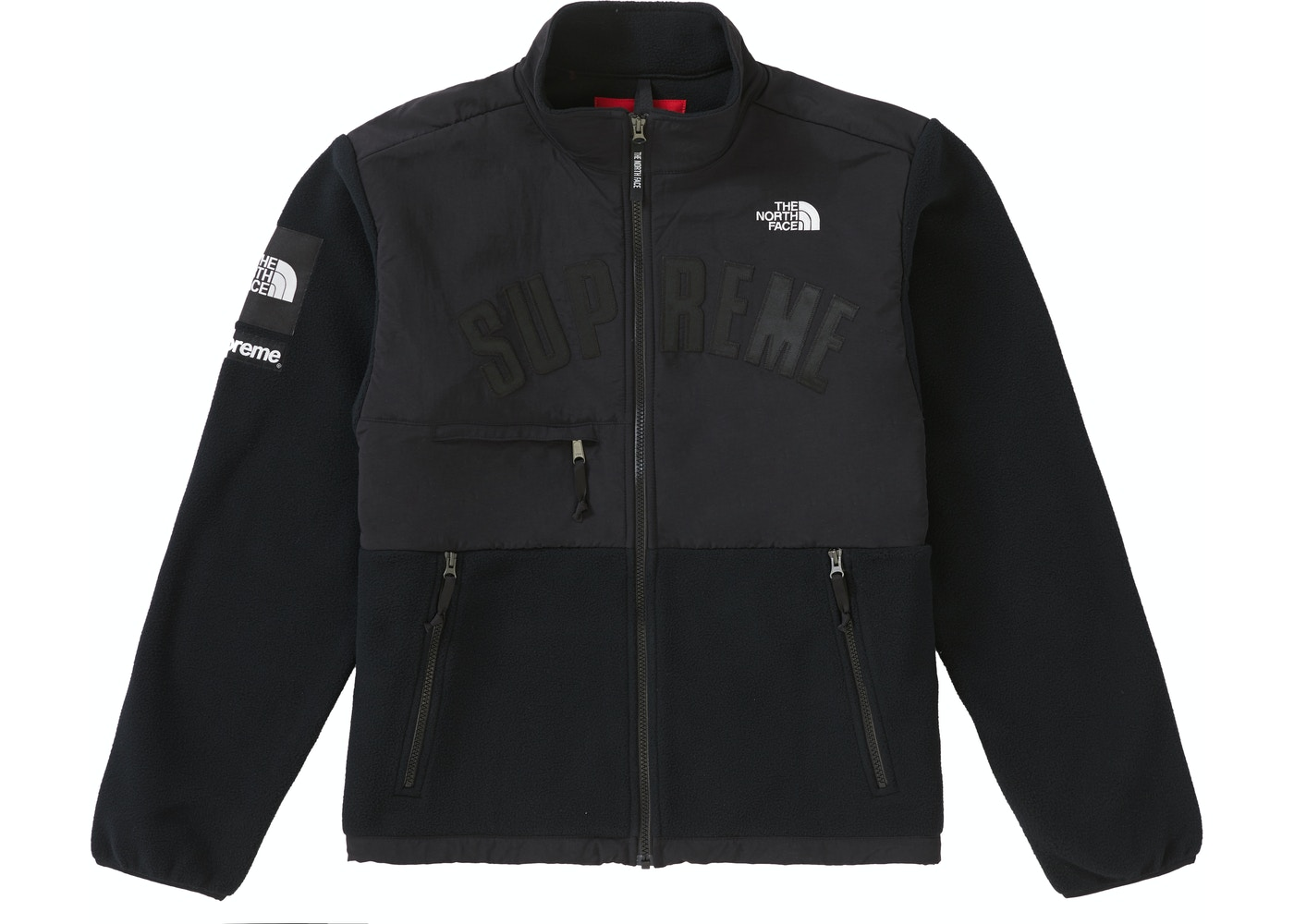 c5a73b699 Supreme The North Face Arc Logo Denali Fleece Jacket Black