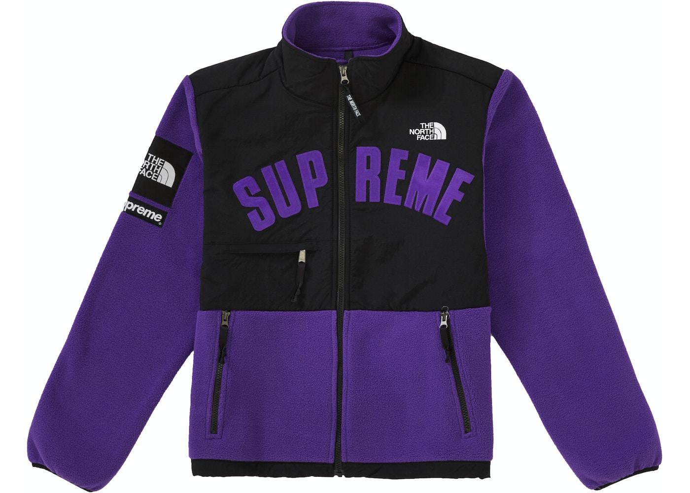 d8664b18 Supreme The North Face Arc Logo Denali Fleece Jacket Purple - SS19