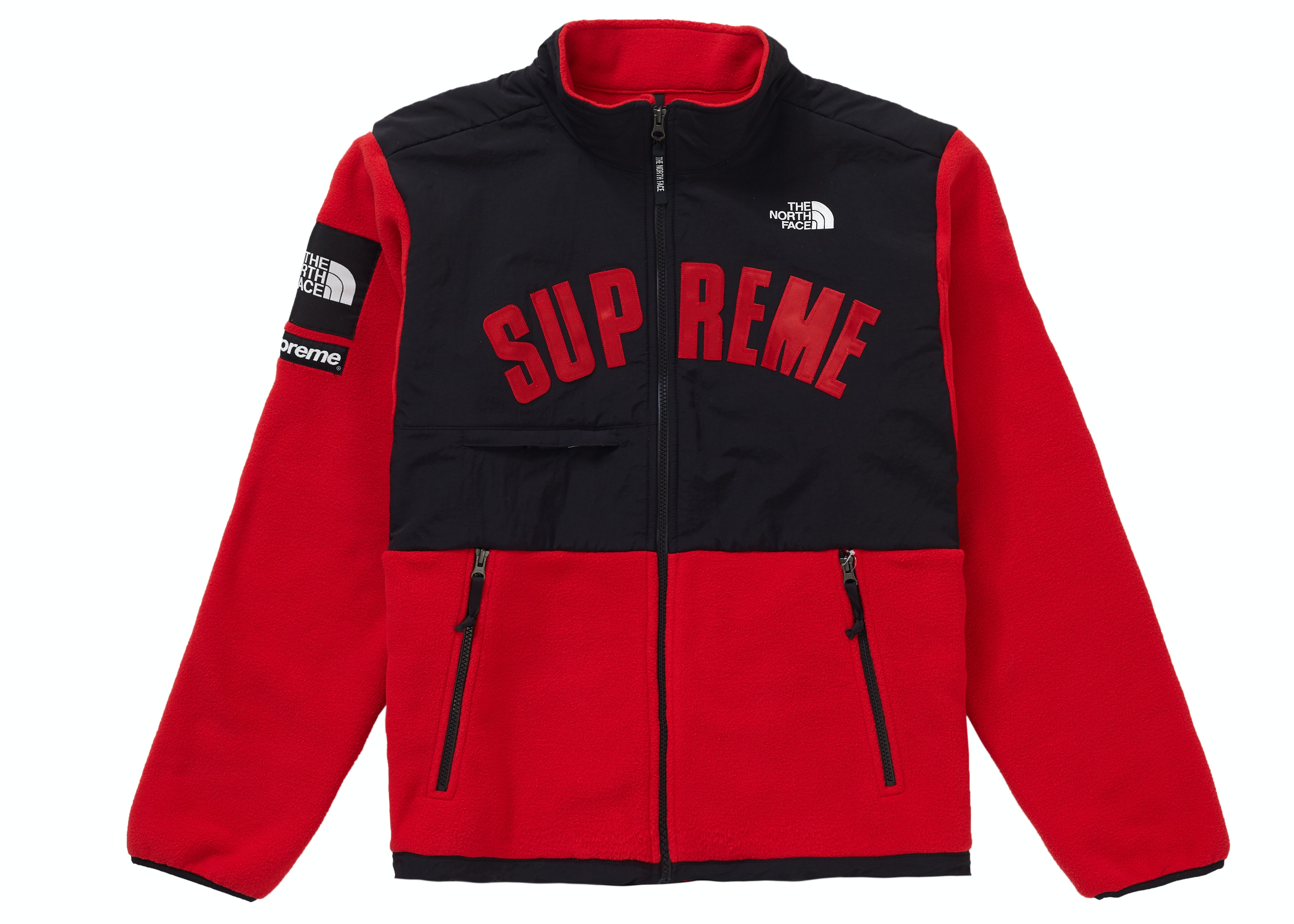 Supreme The North Face Arc Logo Denali Fleece Jacket Red