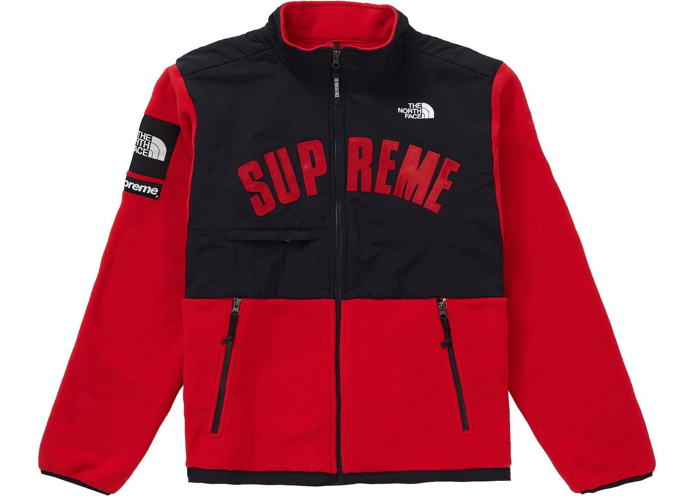echte schoenen San Francisco online bestellen Supreme The North Face Arc Logo Denali Fleece Jacket Red