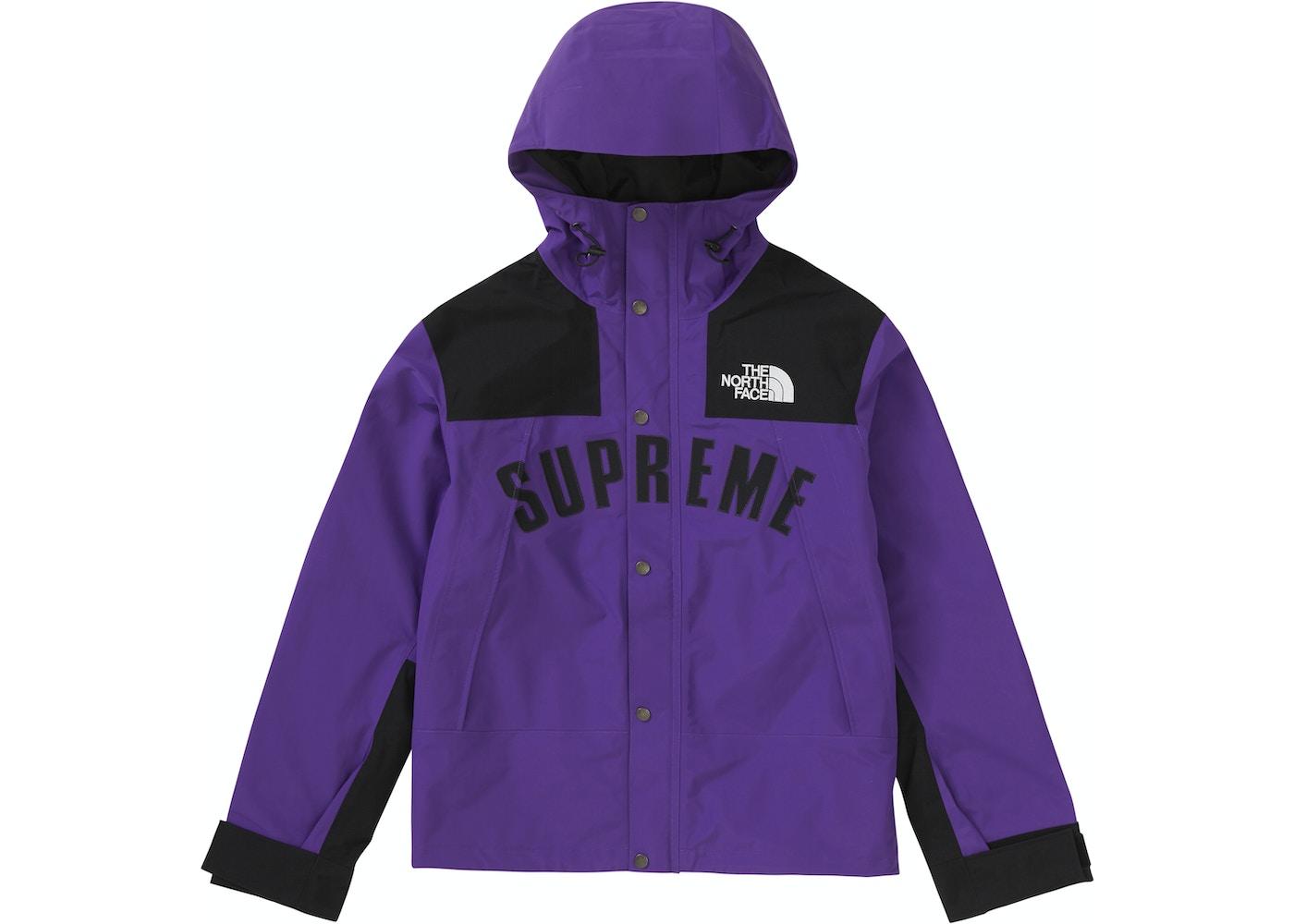 5de4cec7d Supreme The North Face Arc Logo Mountain Parka Purple