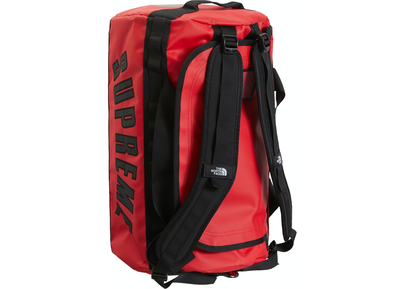 b33772f0b Supreme The North Face Arc Logo Small Base Camp Duffle Bag Red