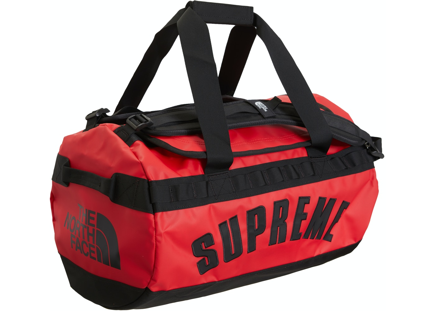 5f49bd88c60 Supreme The North Face Arc Logo Small Base Camp Duffle Bag Red - SS19