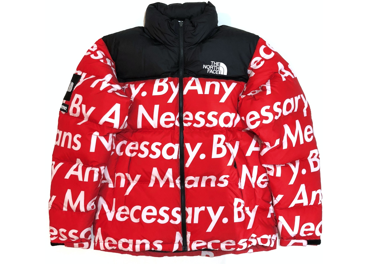 332ae9d5 Supreme The North Face By Any Means Nuptse Jacket Red - FW15