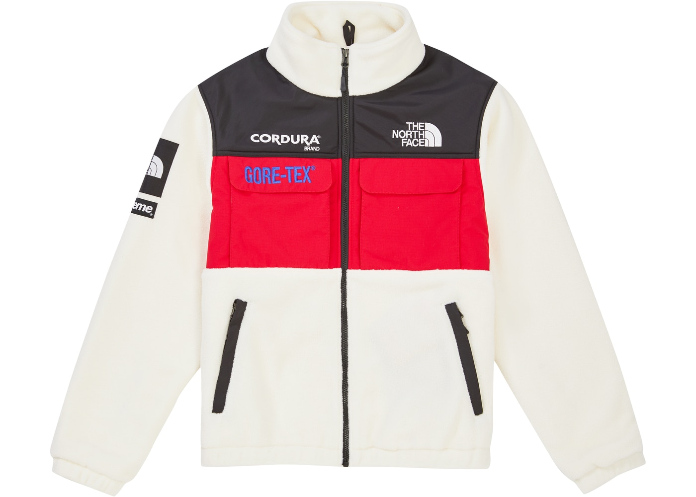 Supreme The North Face Expedition Fleece (FW18) Jacket White - FW18 9f8c3559a