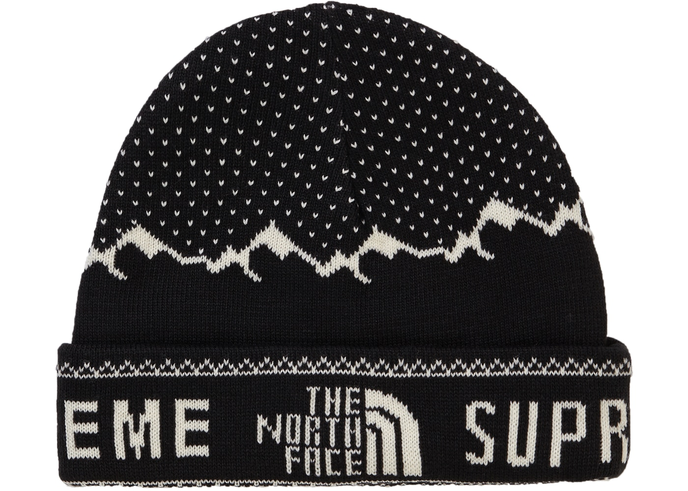 Supreme The North Face Fold Beanie Black - FW18 5354ff64840