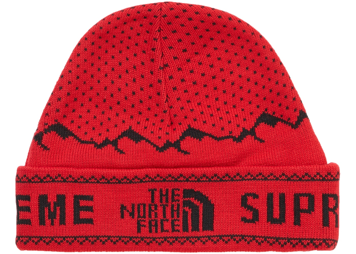 Supreme The North Face Fold Beanie Red