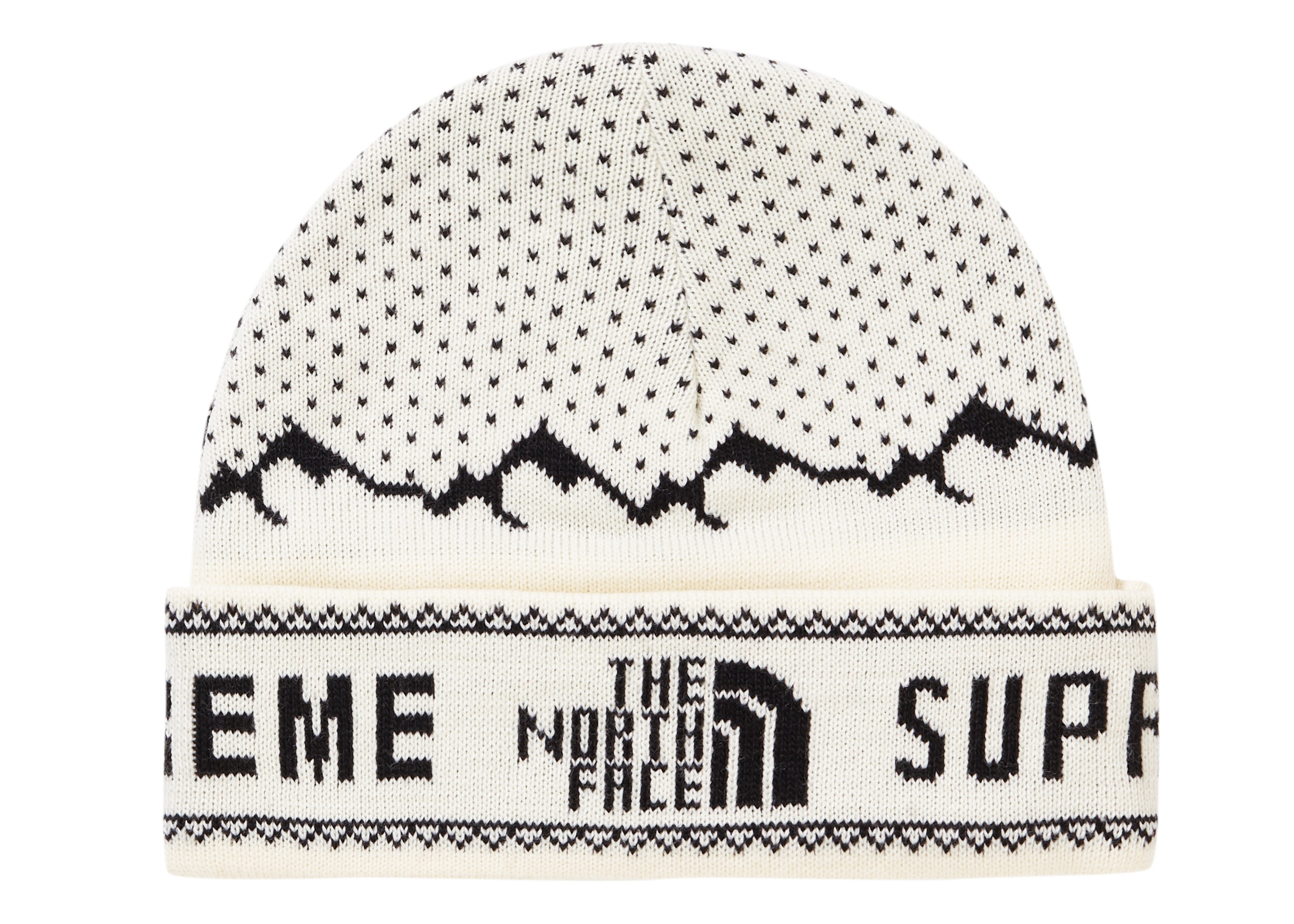 Supreme The North Face Fold Beanie White
