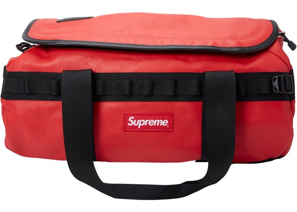Supreme The North Face Leather Base Camp Duffel Red f1c4895b417c6