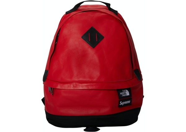 024d8bc1 Supreme The North Face Leather Day Pack Red