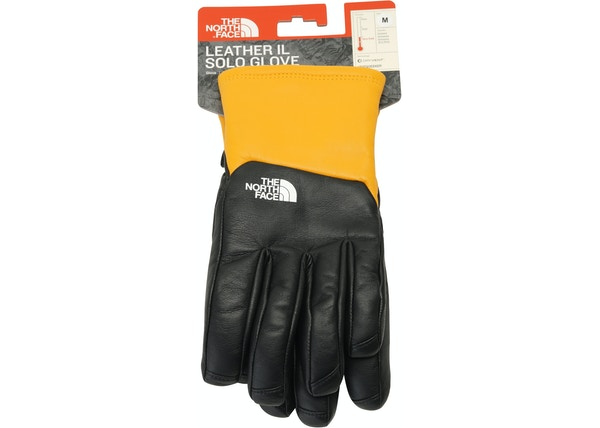 bea448f27 Supreme The North Face Leather Gloves Yellow - FW17