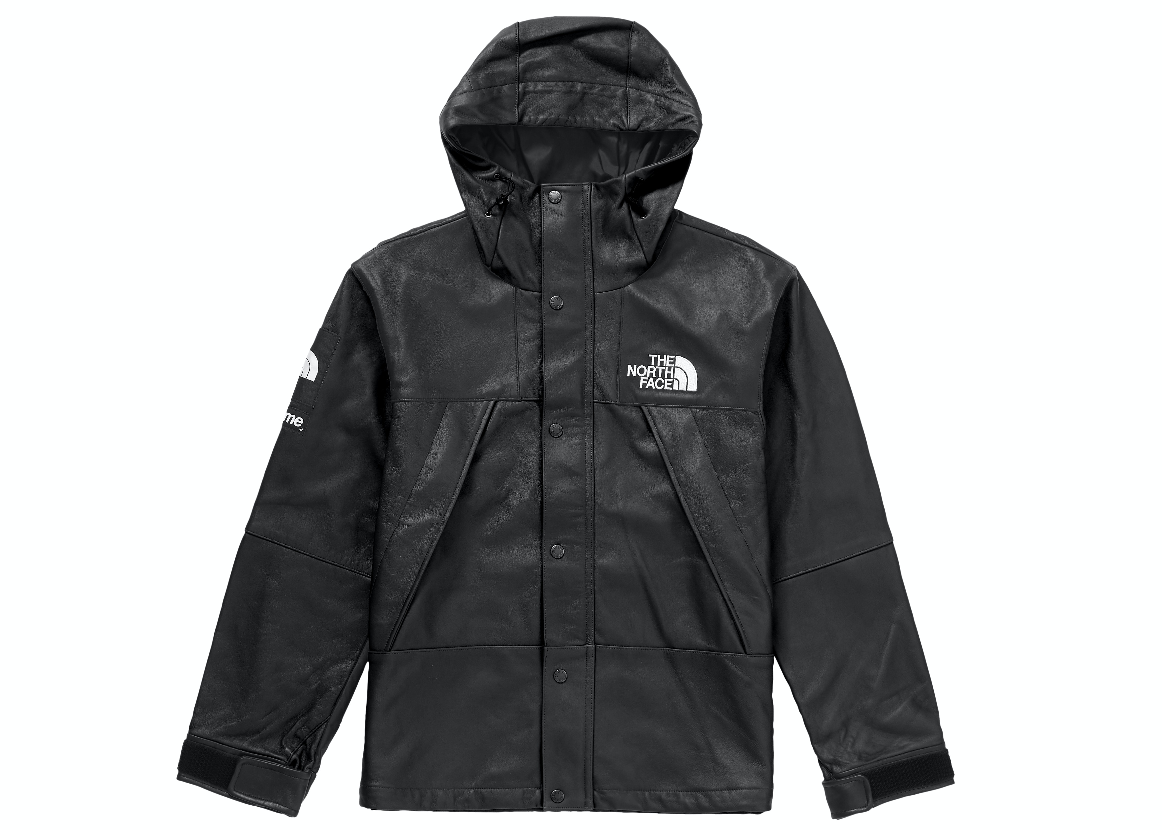 Supreme The North Face Leather Mountain Parka Black Fw18