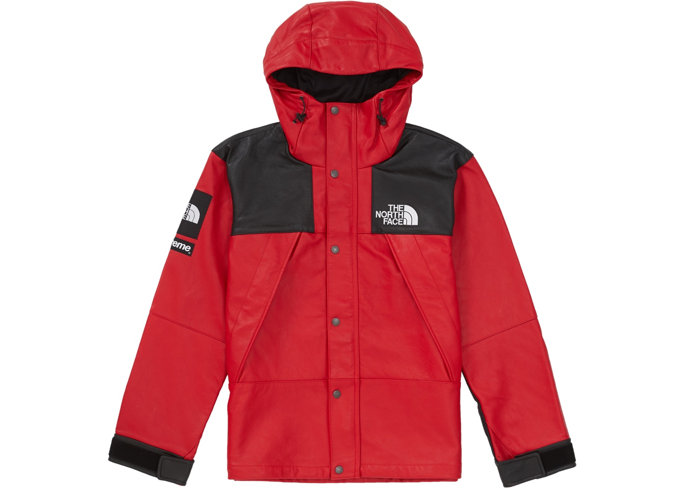 Supreme The North Face Leather Mountain Parka Red - FW18 d4ed46933