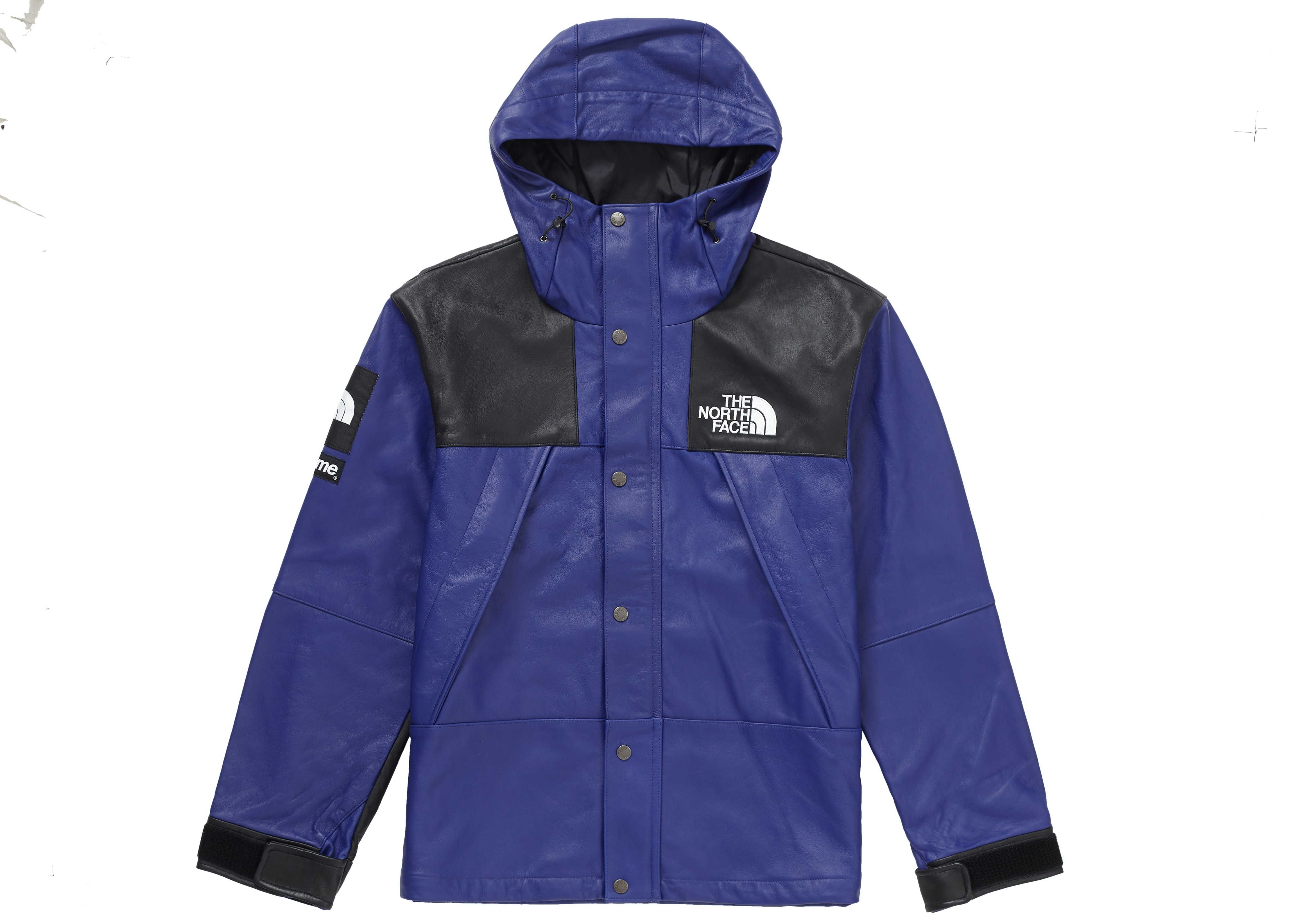 Supreme The North Face Leather Mountain Parka Royal