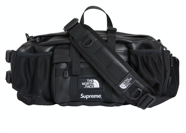 a54819658 Supreme The North Face Leather Mountain Waist Bag Black