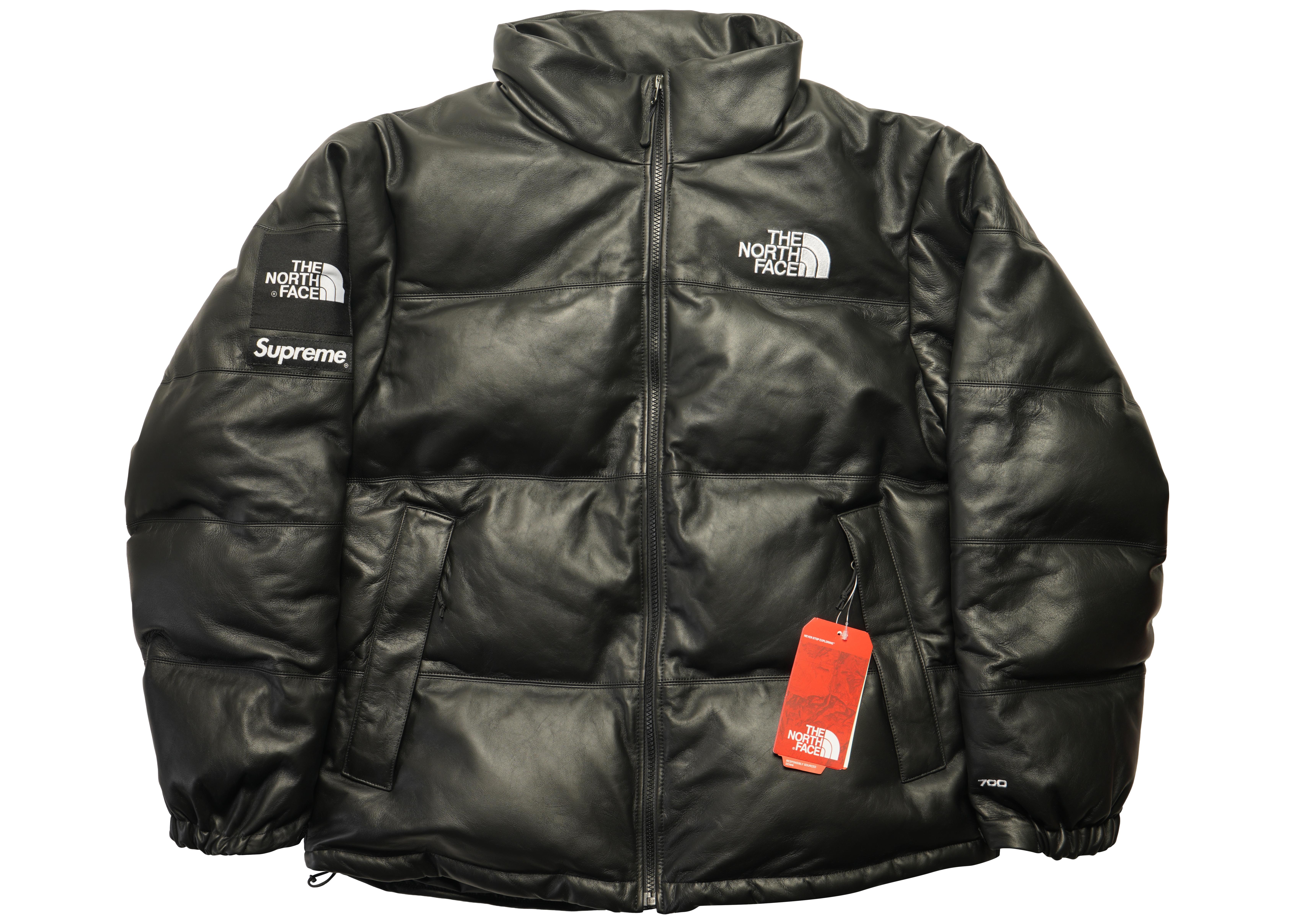 Leather The Nuptse North Jacket Black Supreme Face hBxdtCsQr